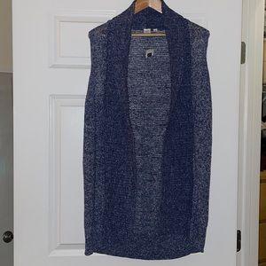 Blue gray sweater vest